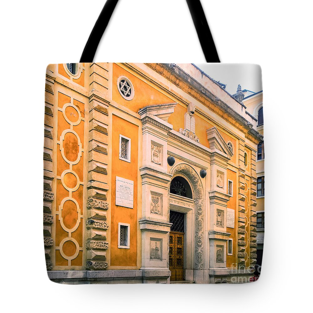 Synagogue Tote Bag featuring the photograph Synagogue In Verona Italy by Kenneth Lempert