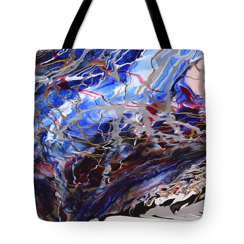 Fusionart Tote Bag featuring the painting Synapse by Ralph White