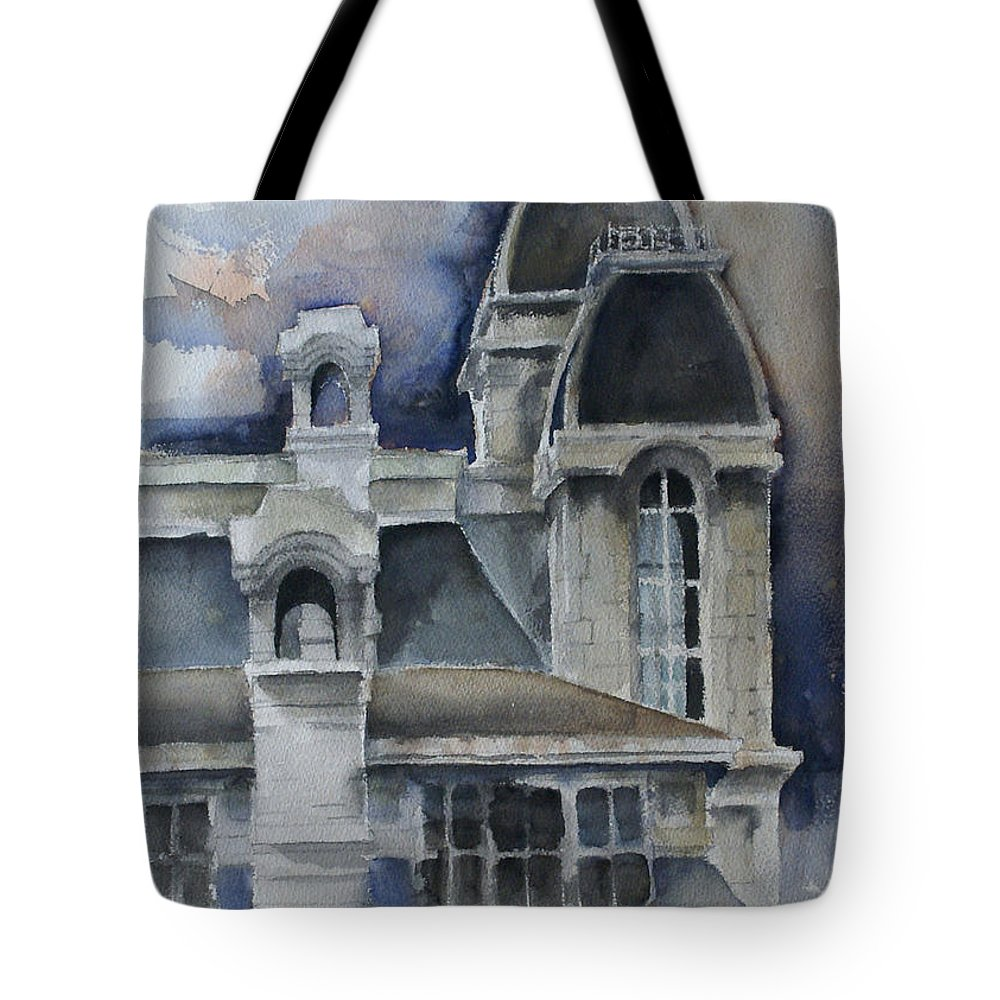 Architecture Tote Bag featuring the painting Syracuse University by Michael Lang