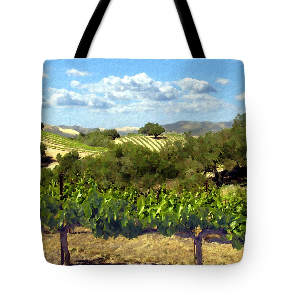 Vineyards Tote Bag featuring the photograph Syrah For Miles by Kurt Van Wagner