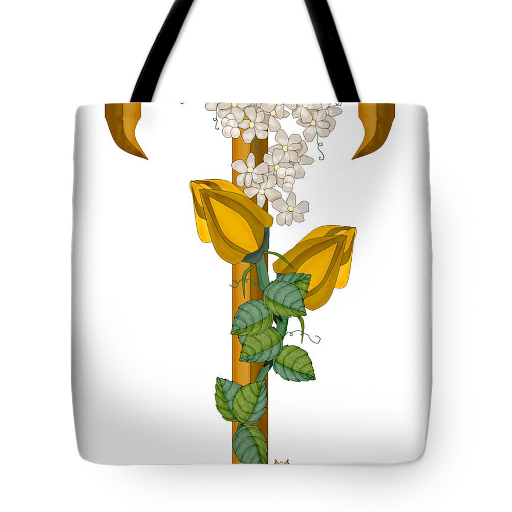 T Tote Bag featuring the painting T Is For Treasures In Time by Anne Norskog
