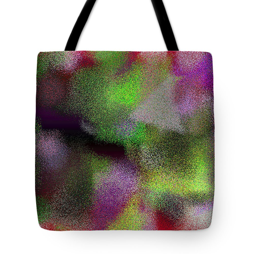 Abstract Tote Bag featuring the digital art T.1.1887.118.7x5.5120x3657 by Gareth Lewis