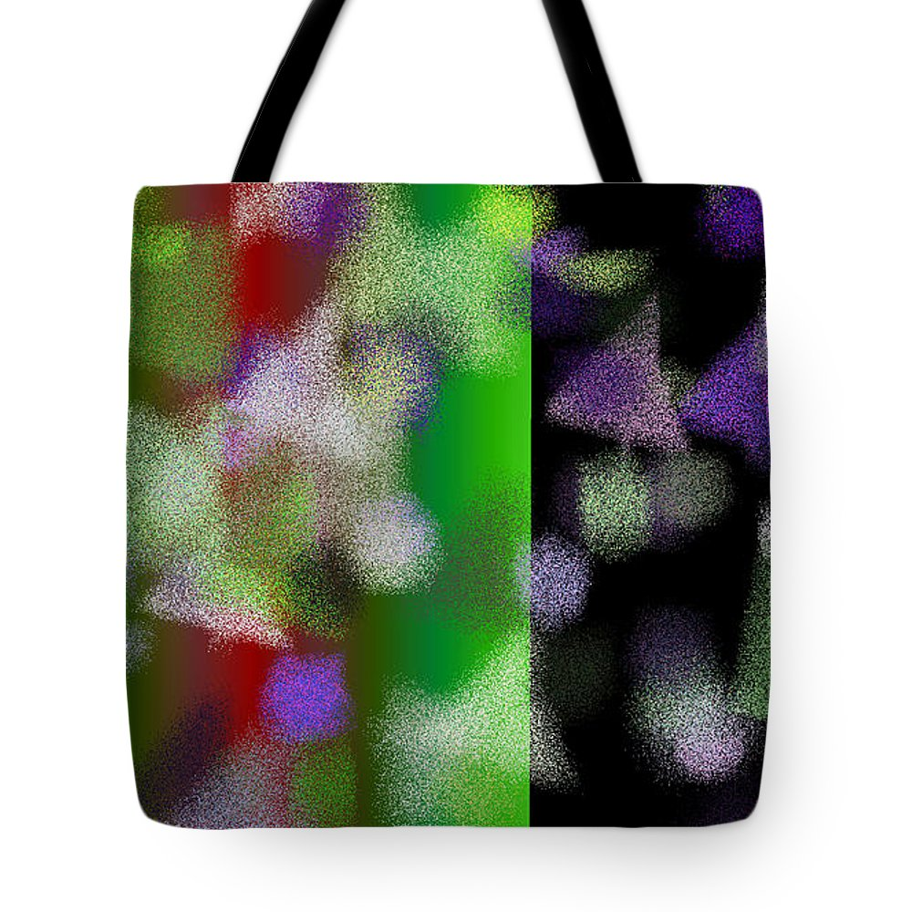 Abstract Tote Bag featuring the digital art T.1.528.33.16x9.9102x5120 by Gareth Lewis