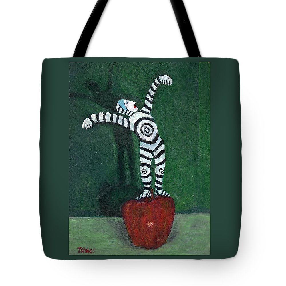 Performer Tote Bag featuring the painting Ta-dah by Dennis Tawes
