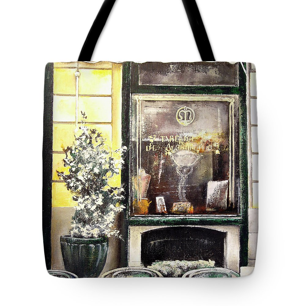 Old Tote Bag featuring the painting Taberna Del Alabardero-madrid by Tomas Castano
