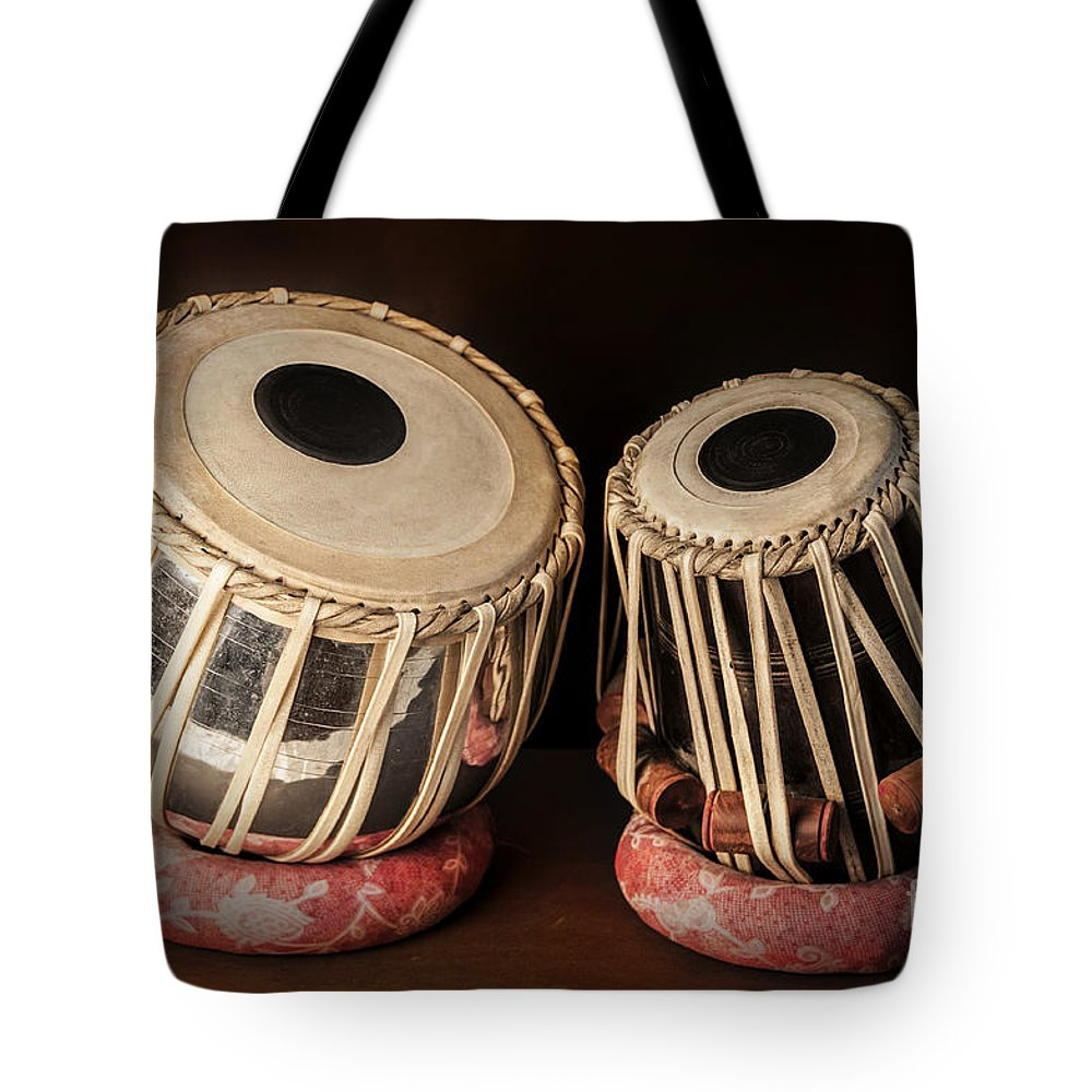 Tabla Tote Bag featuring the photograph Tabla Musical Instrument by Charuhas Images