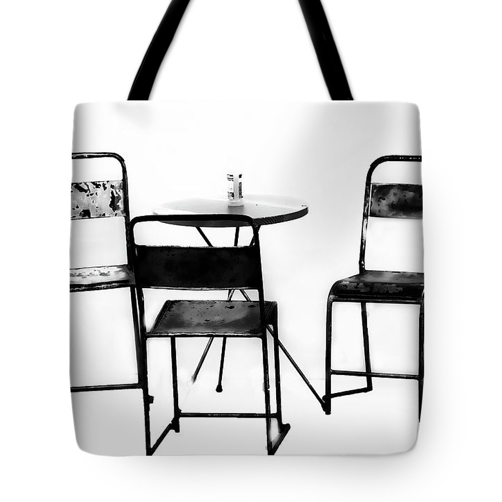 Minimalism Tote Bag featuring the photograph Table For Three by Sheila Smart Fine Art Photography
