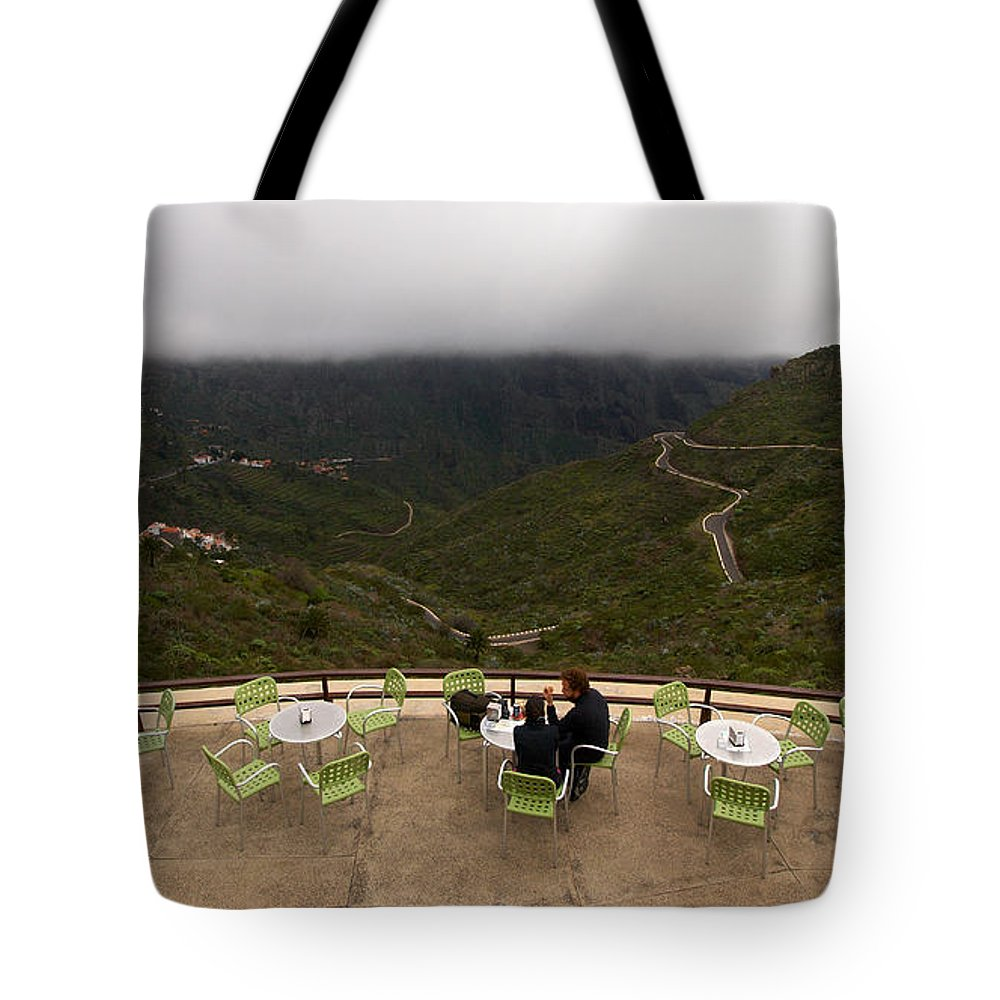 Landscape Tote Bag featuring the photograph Table With A View by Jouko Lehto