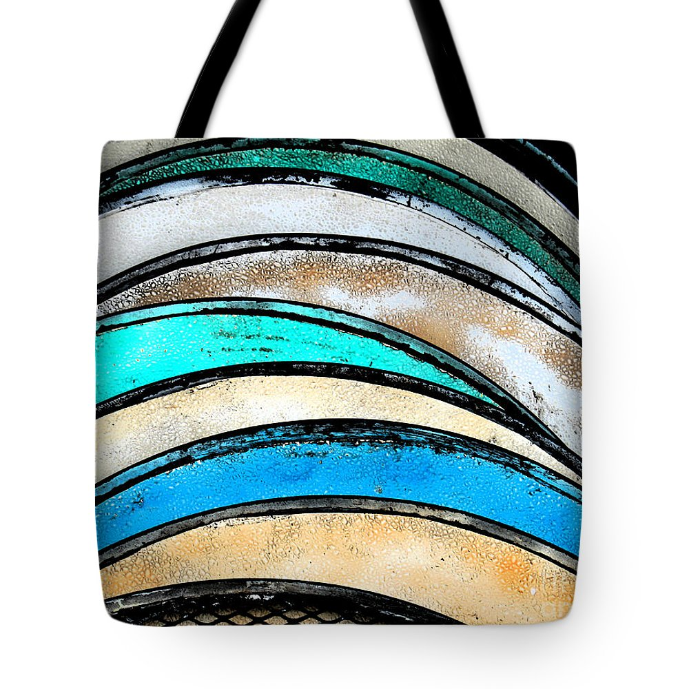 Turquoise Tote Bag featuring the photograph Tables by Gary Everson