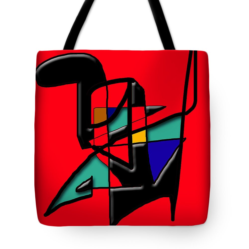 Modern Tote Bag featuring the digital art Tactile Space  II  by Stephen Lucas