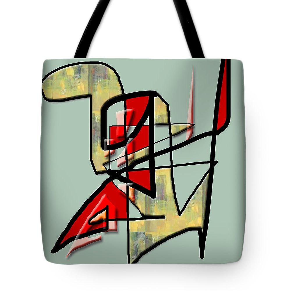 Modern Tote Bag featuring the digital art Tactile Space  IIi by Stephen Lucas