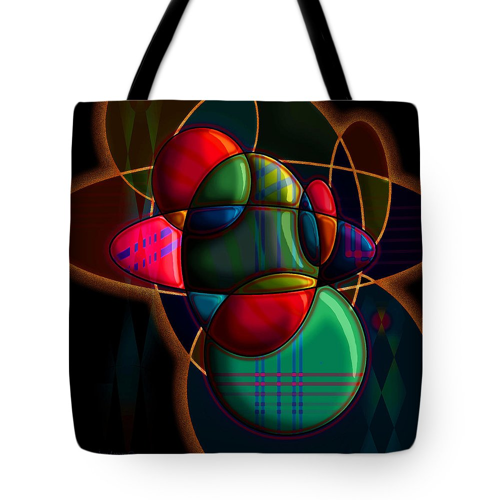 Modern Tote Bag featuring the digital art Tactile Space I by Stephen Lucas