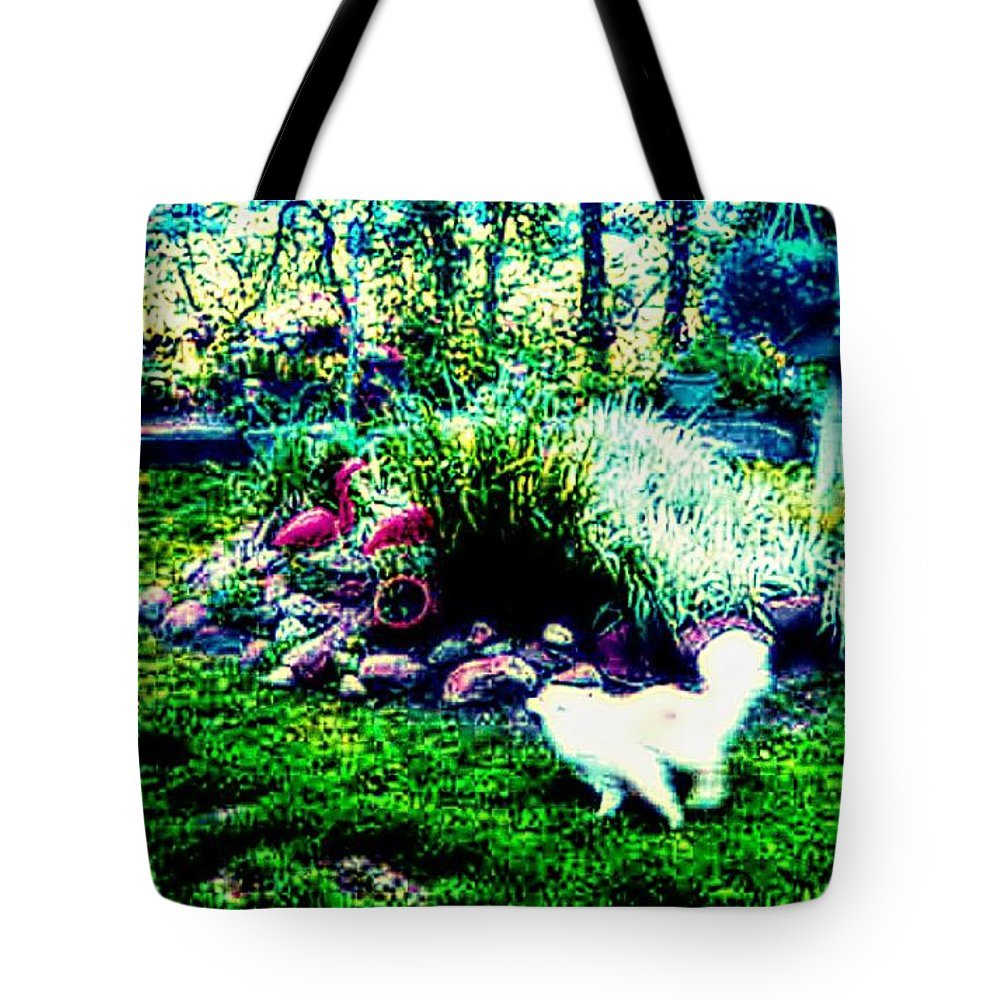 Dogs Tote Bag featuring the photograph Tag You're It by Jenn Beck