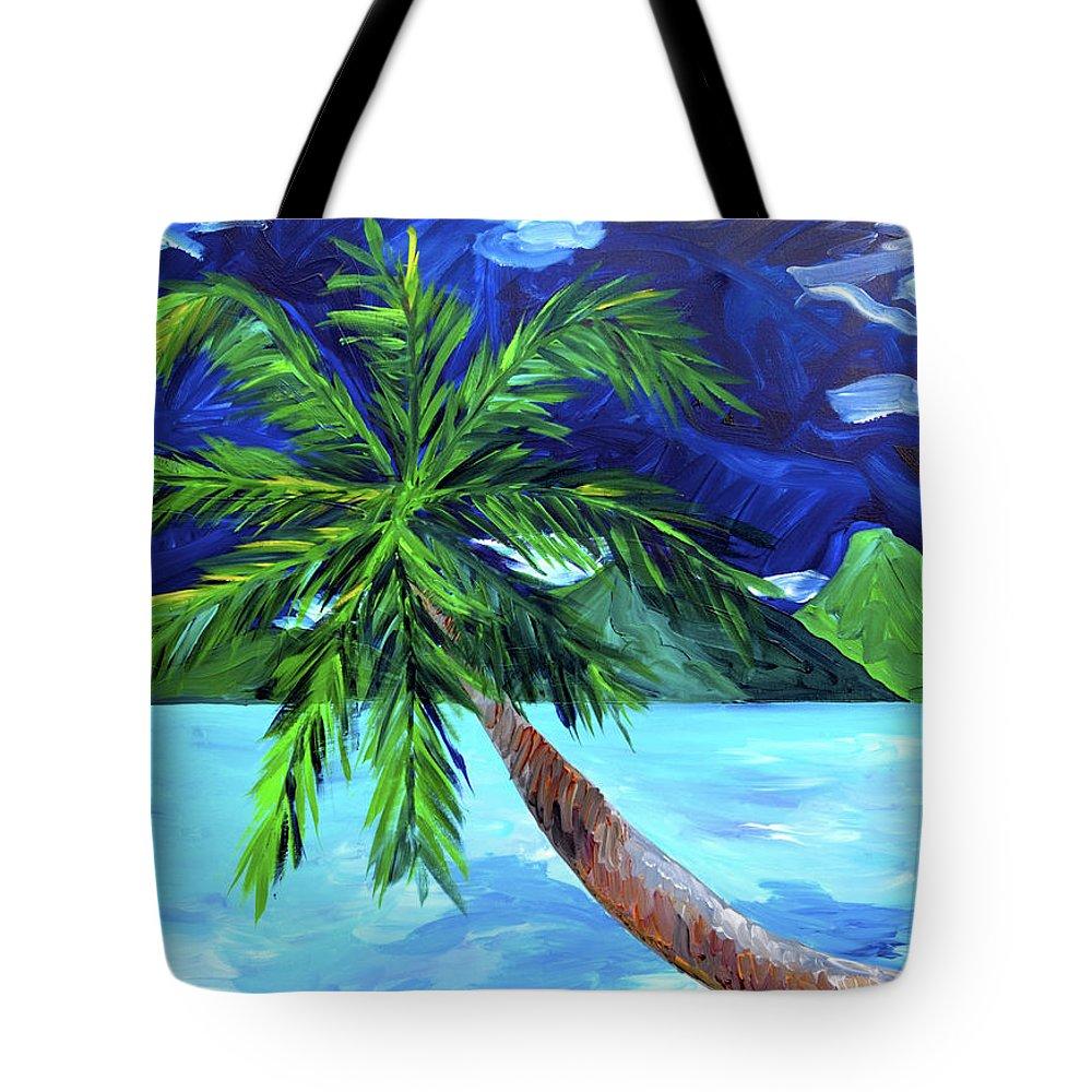 Tahiti Tote Bag featuring the painting Tahiti Beach by Beth Cooper
