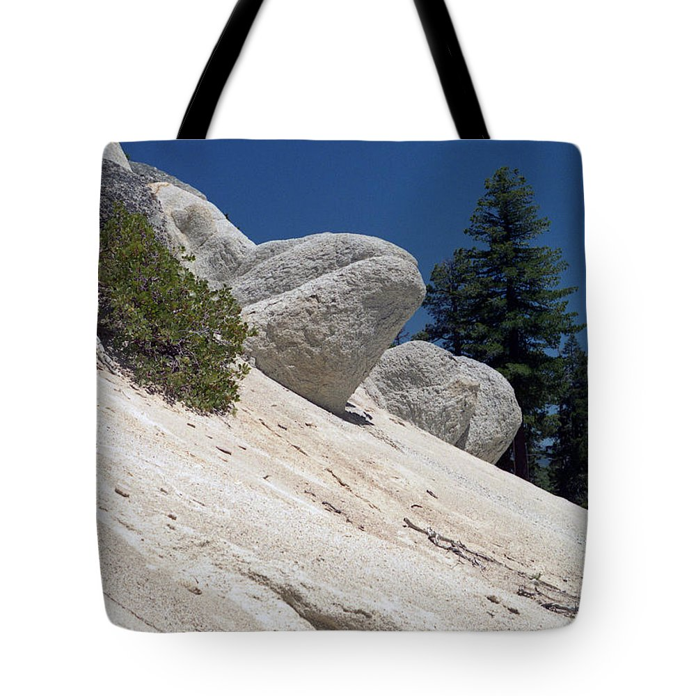 Abstract Tote Bag featuring the photograph Tahoe Rocks by Richard Rizzo