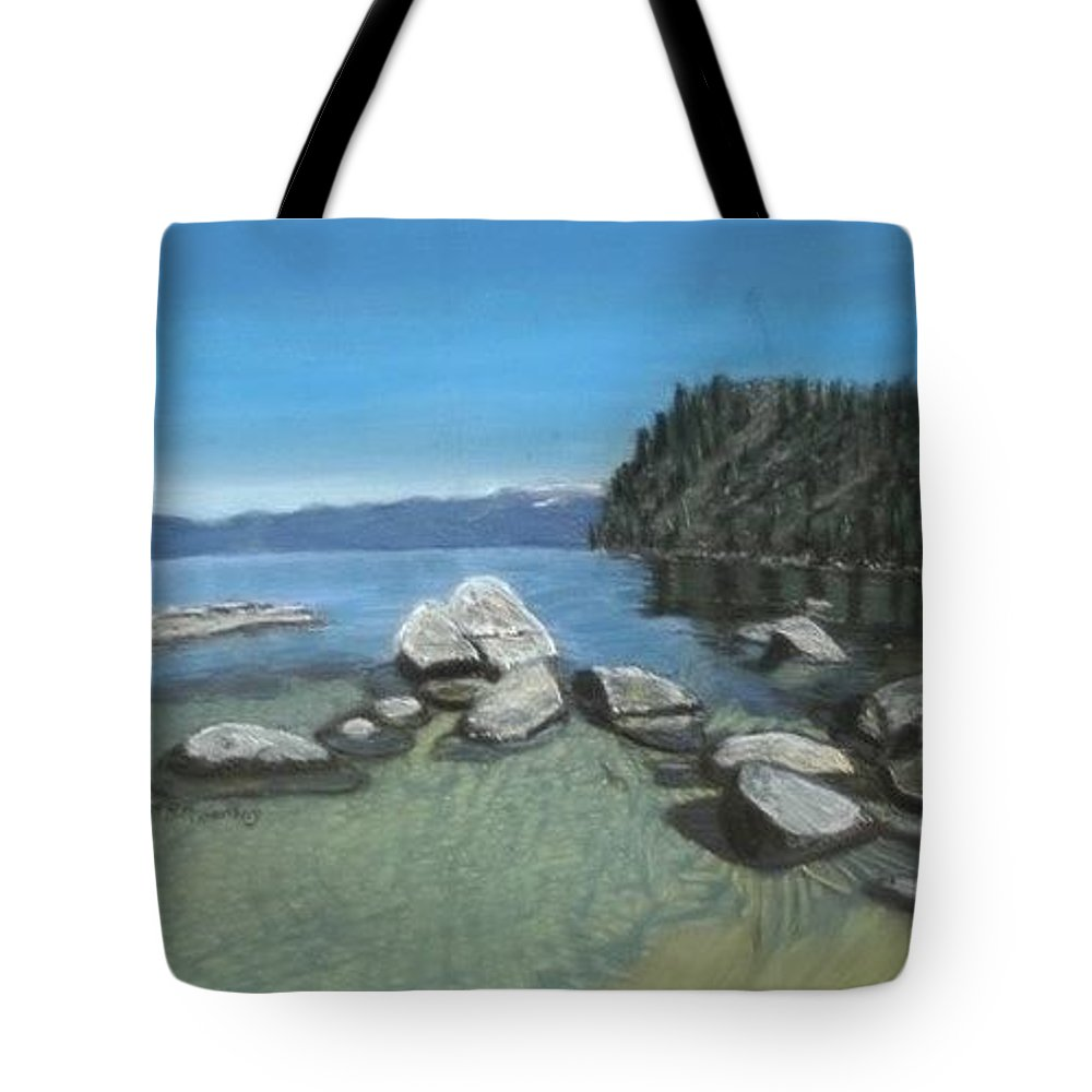 Landscape Tote Bag featuring the painting Tahoe by Ruthie Briggs-Greenberg