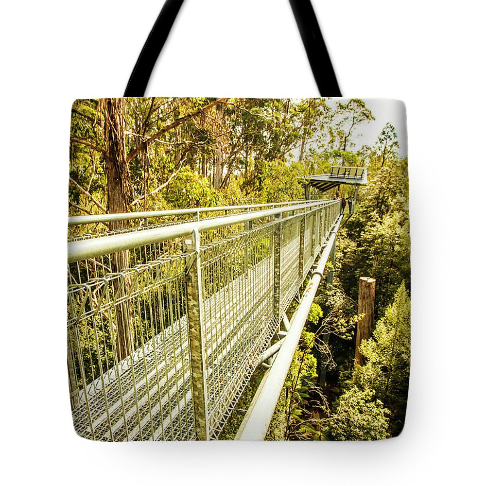 Forest Tote Bag featuring the photograph Tahune Airwalk Tasmania by Jorgo Photography - Wall Art Gallery