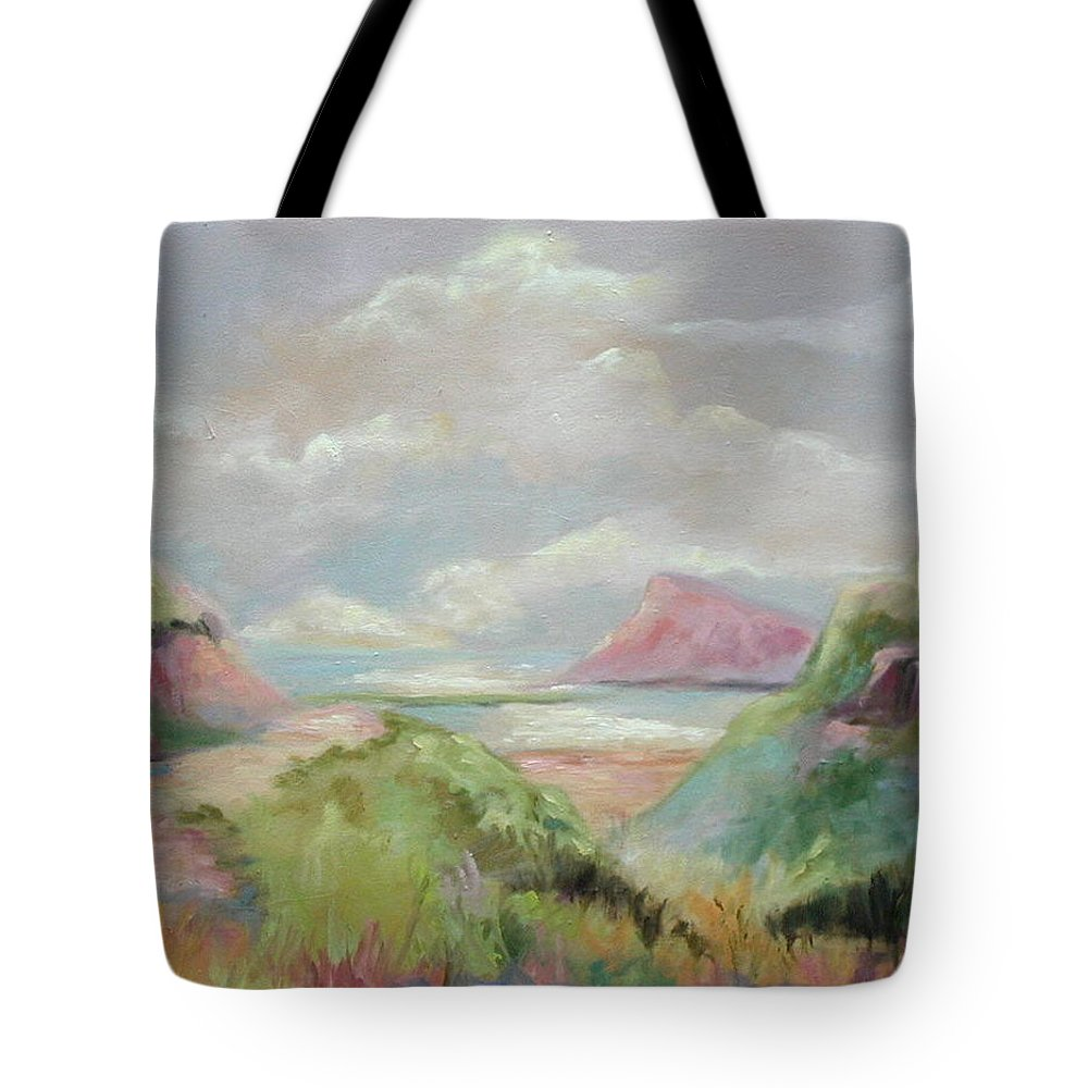Seascape Tote Bag featuring the painting Taiwan Inlet by Ginger Concepcion