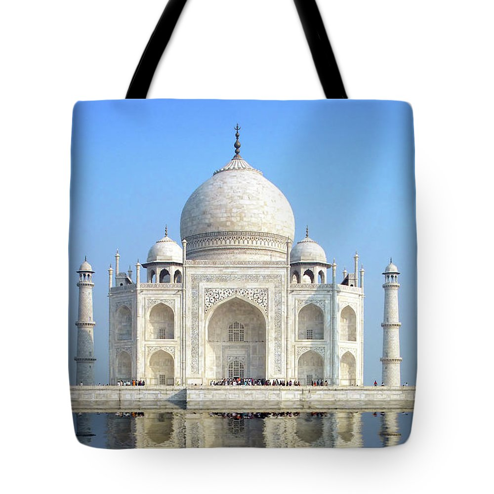 Taj Mahal Tote Bag featuring the photograph Taj Mahal by Delphimages Photo Creations