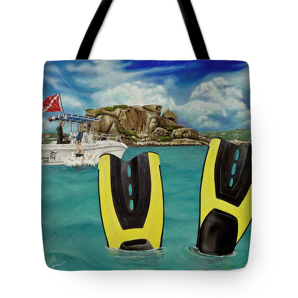 St. Martin Tote Bag featuring the painting Take Me To Creole Rock by Cindy D Chinn