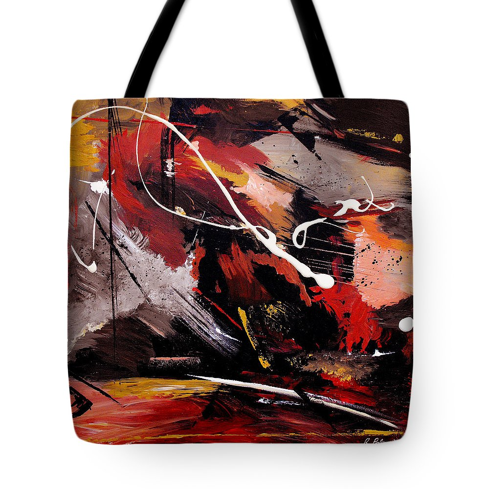 Abstract Tote Bag featuring the painting Take To Heart by Ruth Palmer