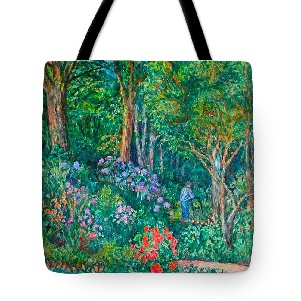Suburban Paintings Tote Bag featuring the painting Taking a Break by Kendall Kessler