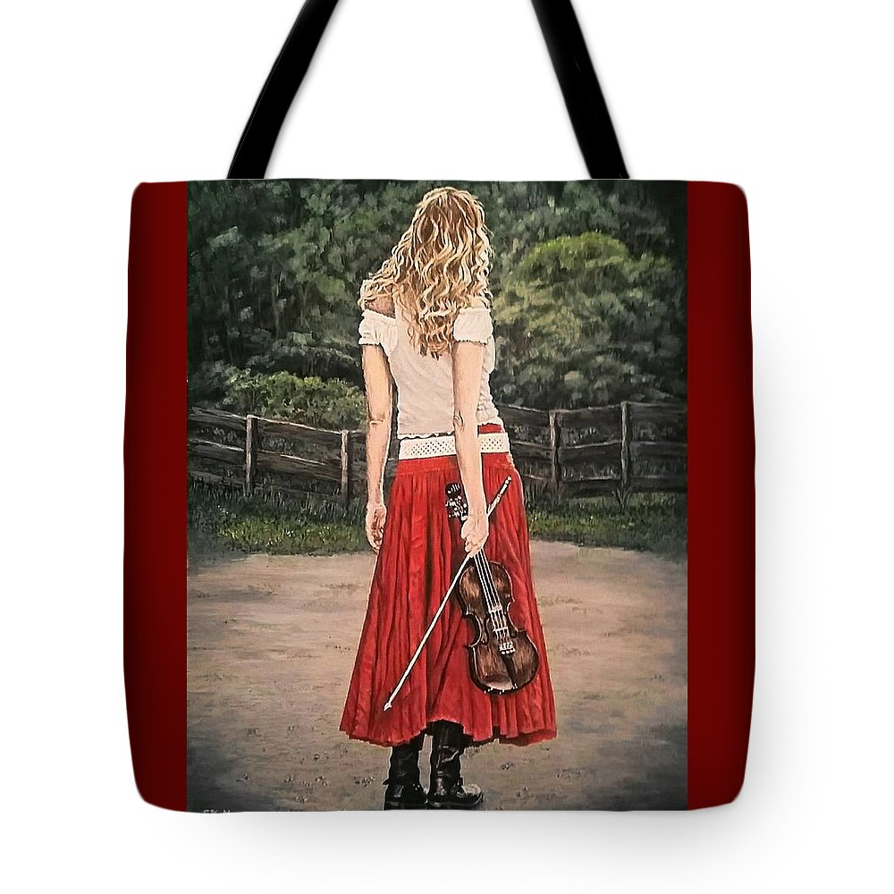 Painting Tote Bag featuring the painting Taking A Break by Sheryl Gallant