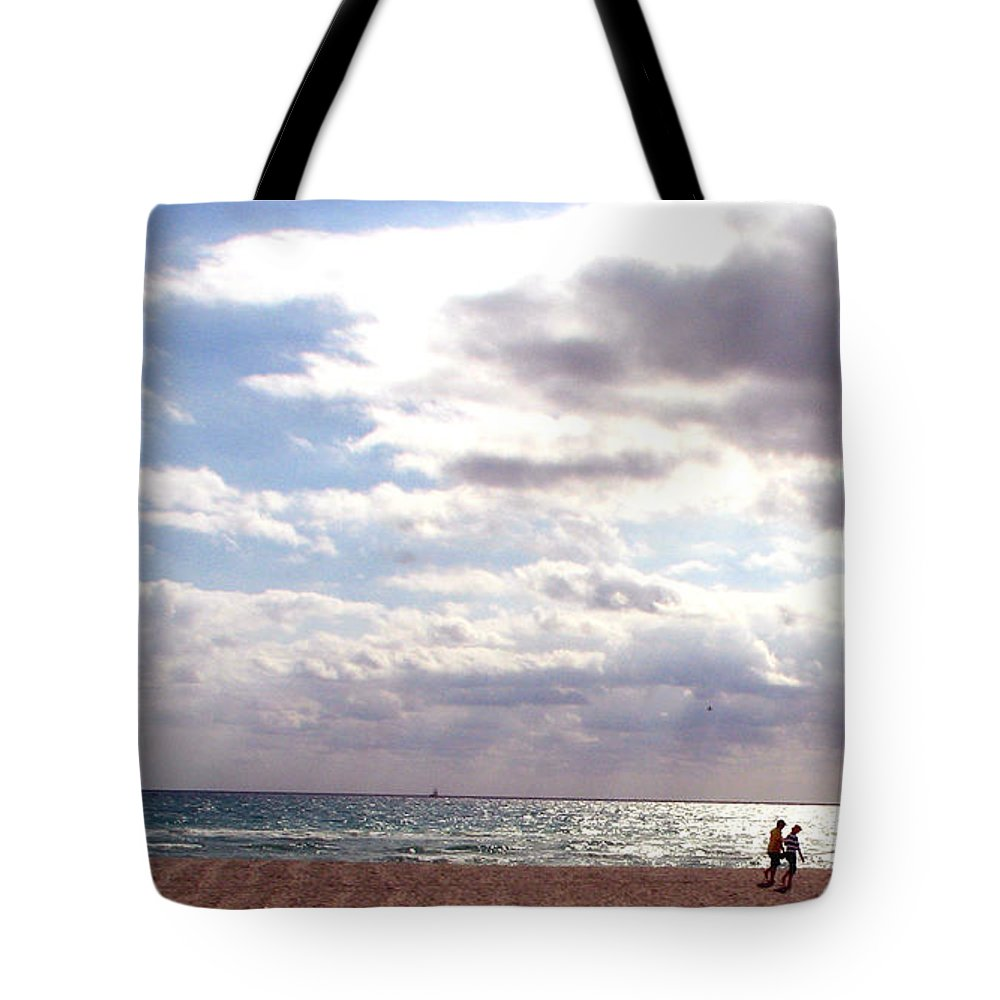 Walking Tote Bag featuring the photograph Taking A Walk by Amanda Barcon