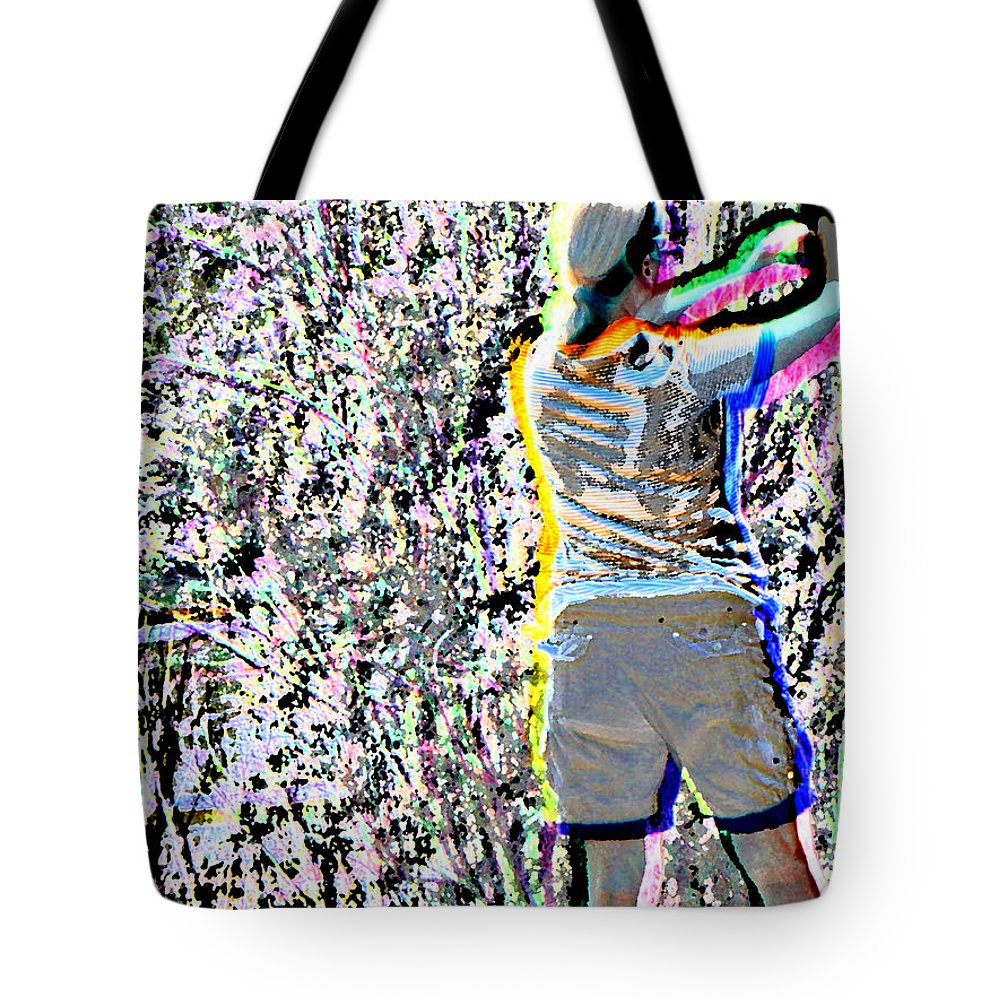 Abstract Tote Bag featuring the photograph Taking Pictures by Lenore Senior