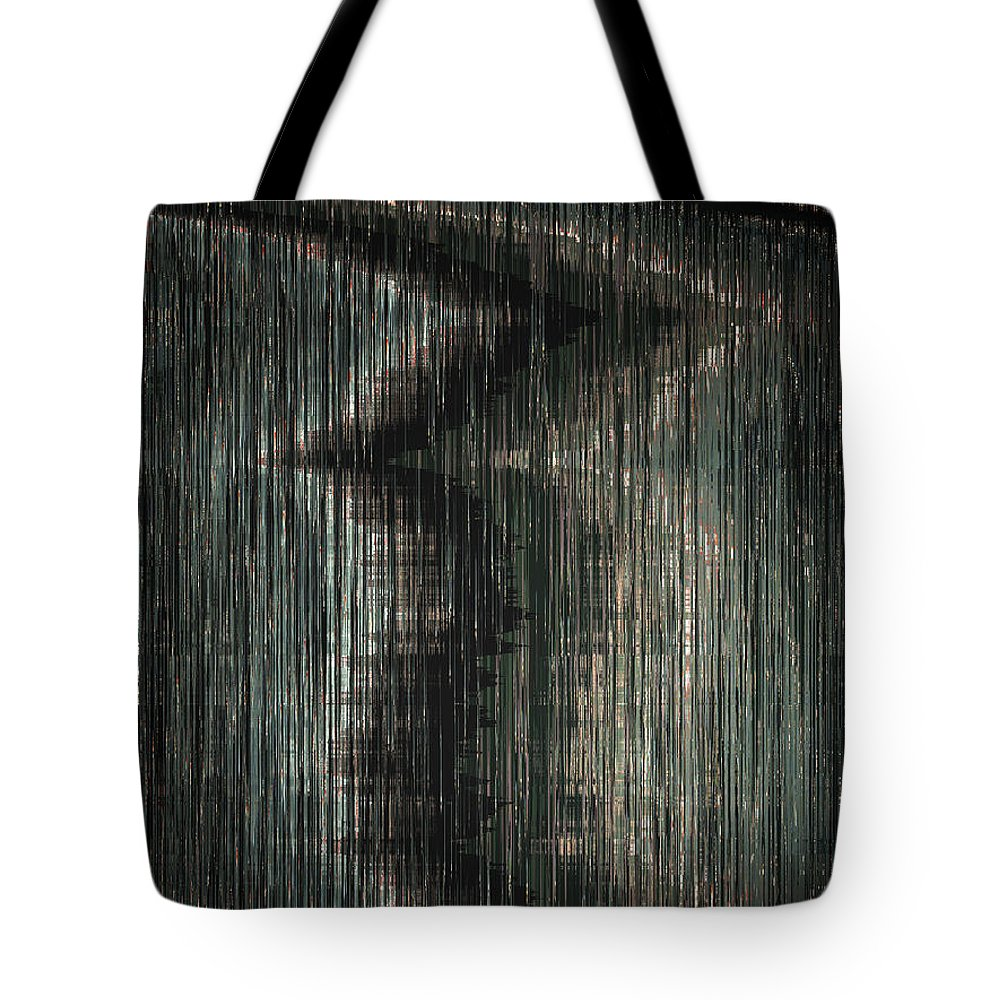 Abstract Tote Bag featuring the digital art Taking The Middle Road by Lenore Senior
