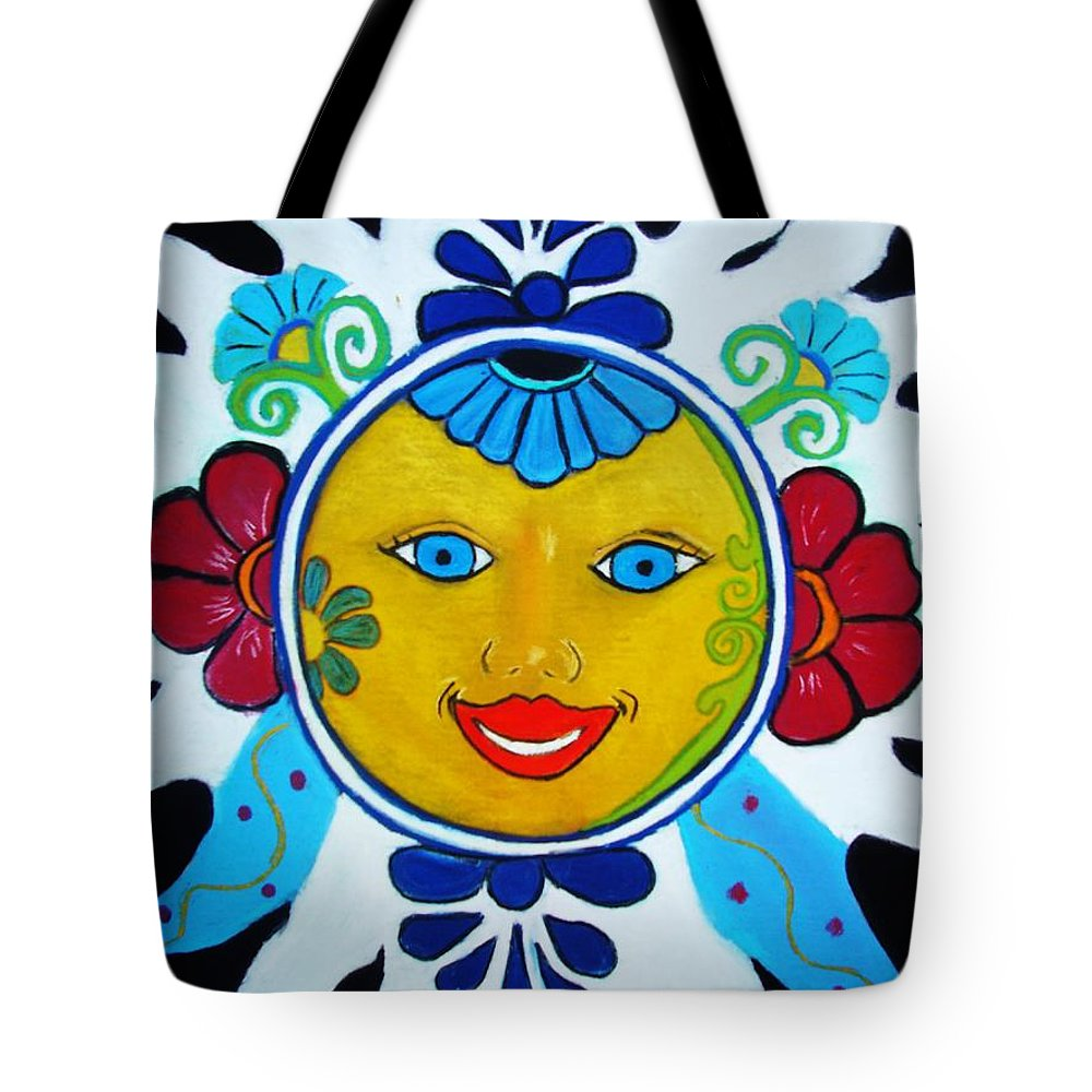 Sun Tote Bag featuring the painting Talavera Sun by Melinda Etzold