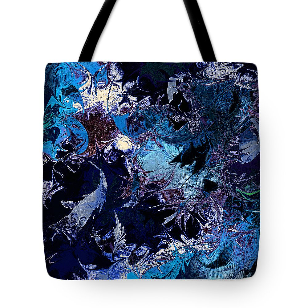 Abstract Tote Bag featuring the digital art Tales In A Moonlit Wood by Rachel Christine Nowicki