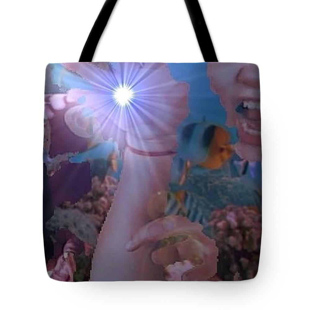 Talk To The Hand Tote Bag featuring the painting Talk To The Hand by Joe Geare