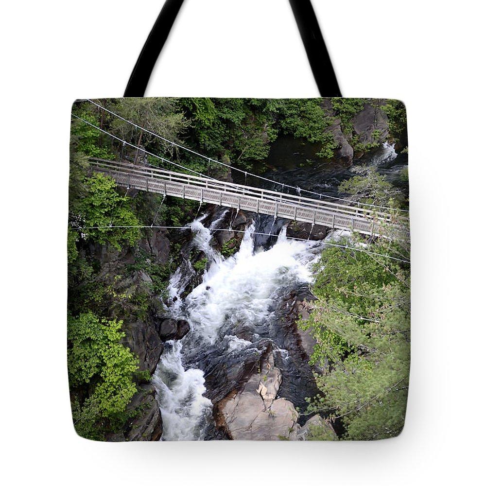 Georgia Tote Bag featuring the photograph Tallulah Falls Bridge by Charles Bacon Jr