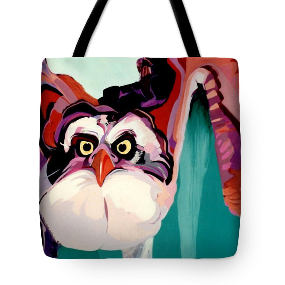 Raptor Tote Bag featuring the painting Talons Down by Marlene Burns