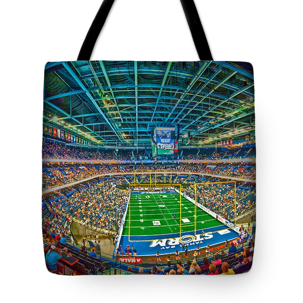 Tampa Bay Tote Bag featuring the photograph Tampa Bay Storm by Adam Howard