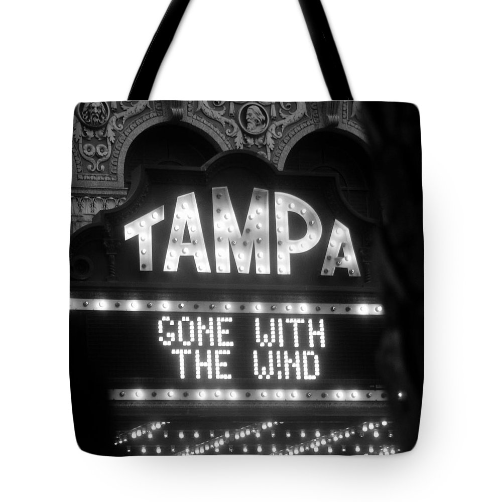 Gone With The Wind Tote Bag featuring the photograph Tampa Theatre Gone With The Wind by David Lee Thompson