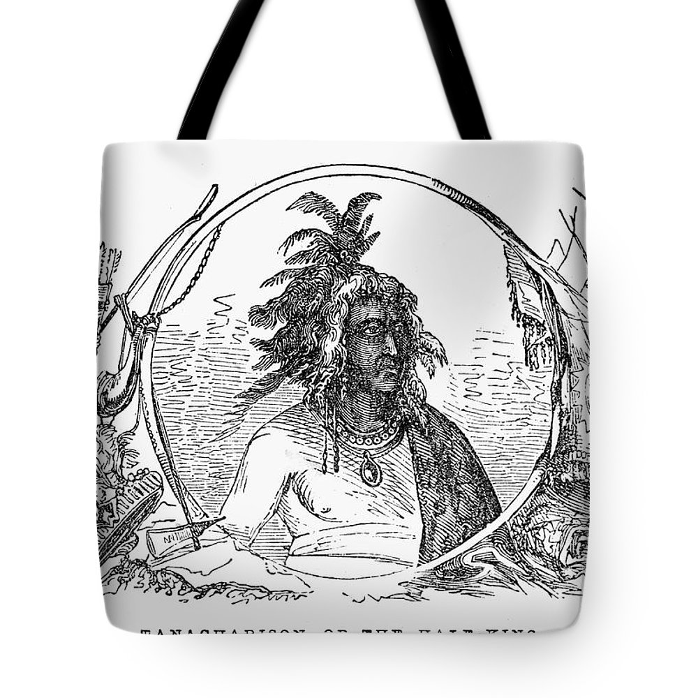 1853 Tote Bag featuring the photograph Tanacharison (c1700-1754) by Granger
