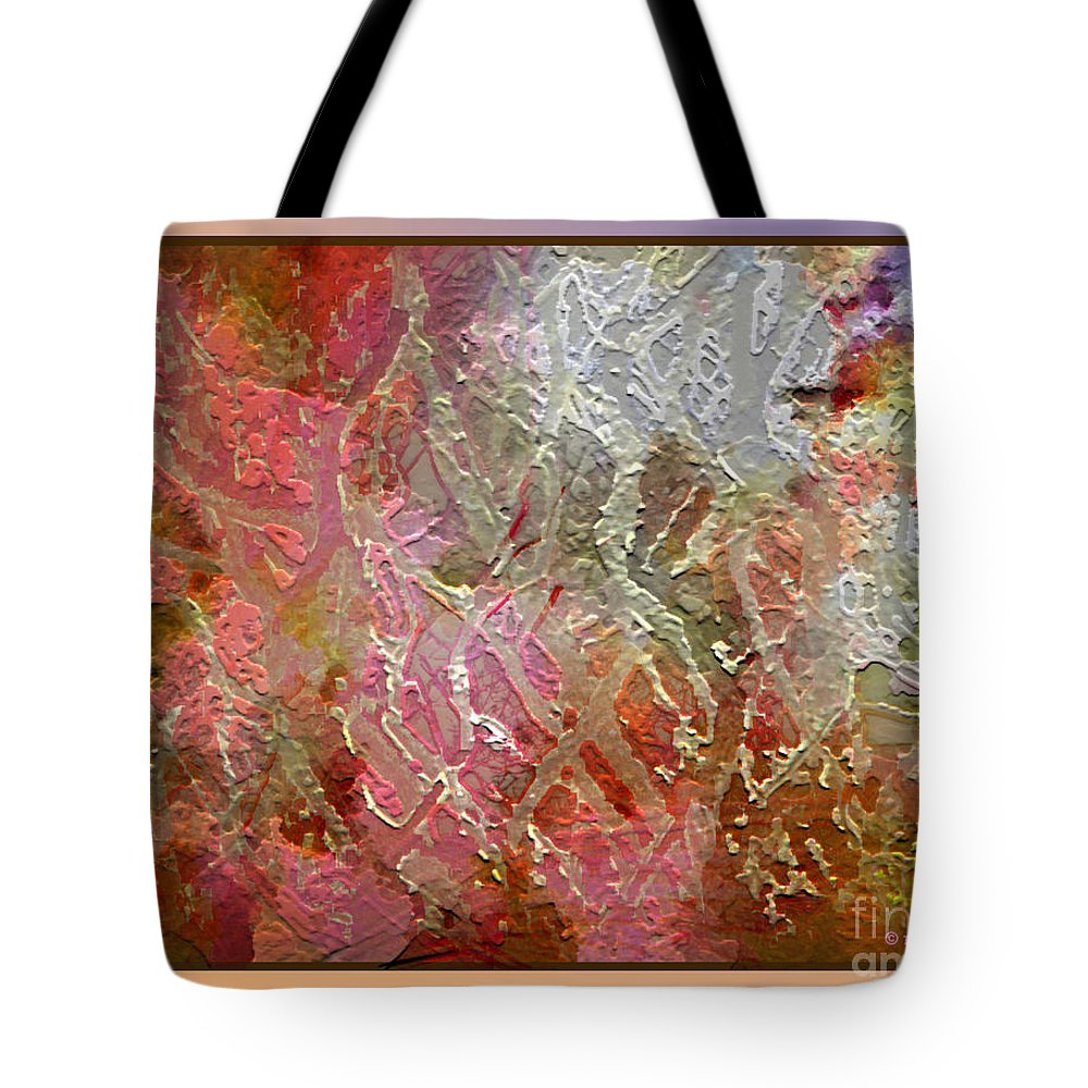Abstract Tote Bag featuring the photograph Tangled Branches II by Dee Flouton