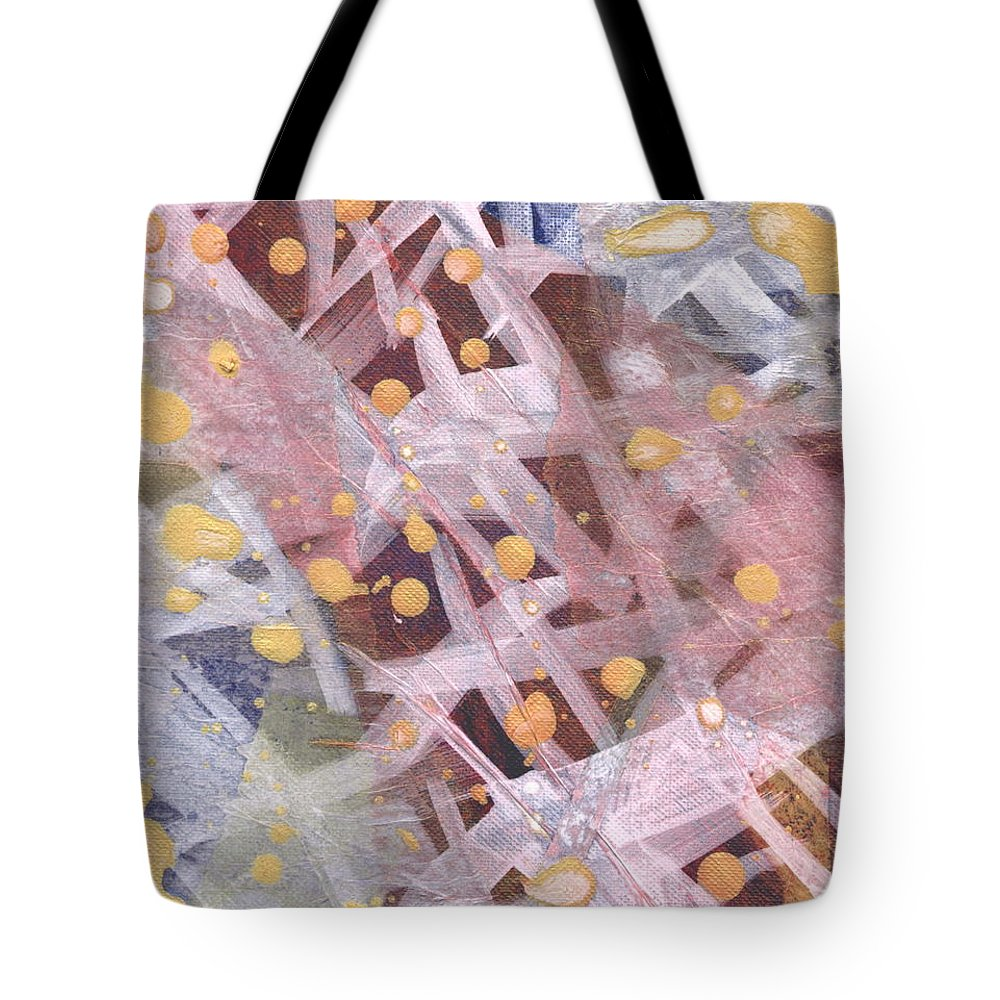 Abstract Tote Bag featuring the mixed media Tangled Up II by Angela L Walker