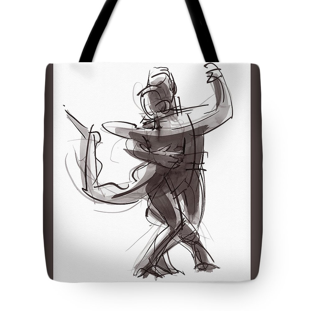Dancers Tote Bag featuring the painting Tango #25 by Judith Kunzle
