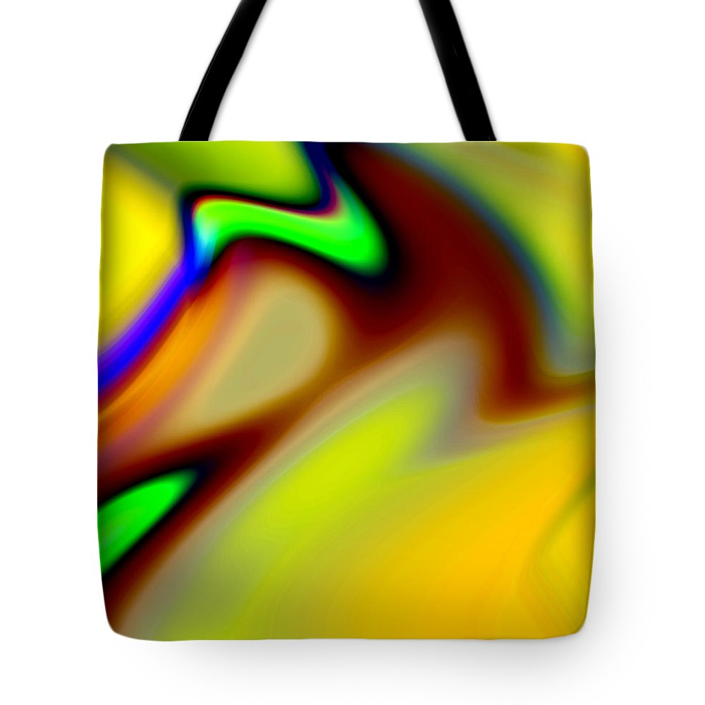 Abstract Tote Bag featuring the digital art Tango by Ruth Palmer