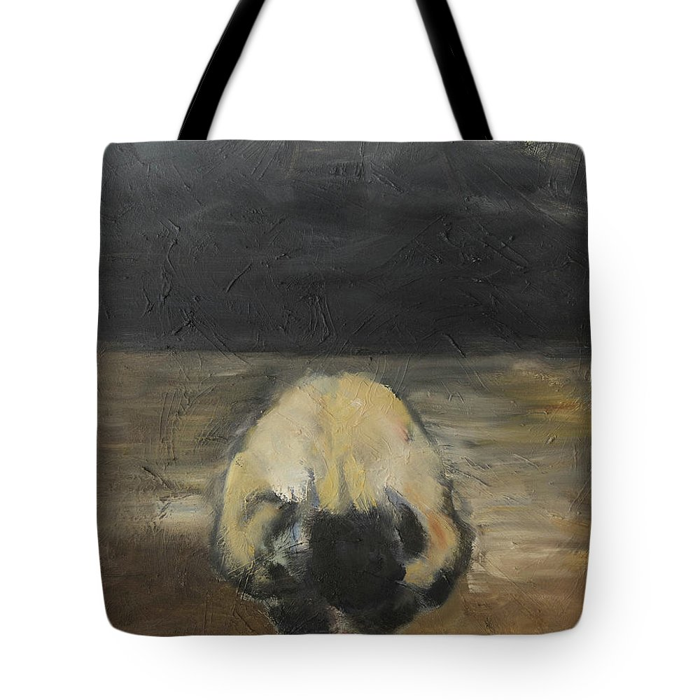 Abstract Landscape Tote Bag featuring the painting Tantric Fetal Pose by Craig Newland