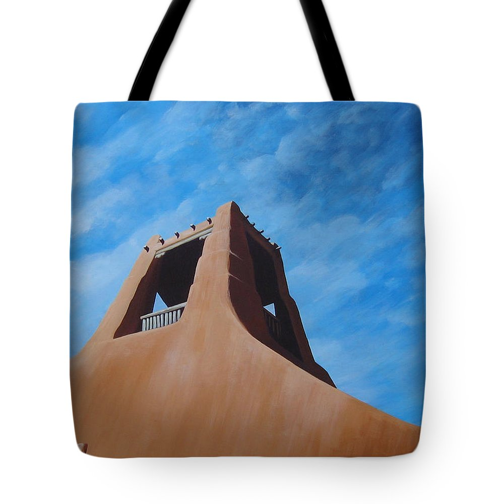 Taos Tote Bag featuring the painting Taos Memory by Hunter Jay
