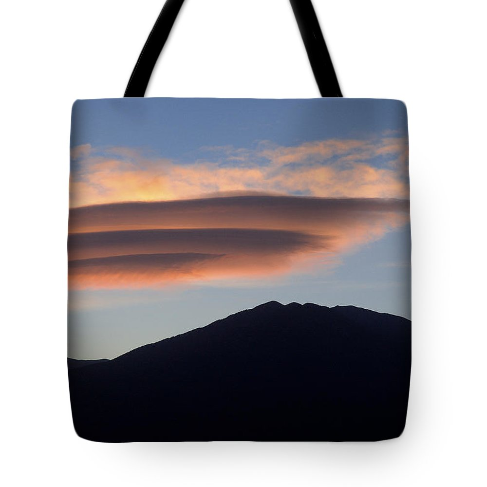 Taos Tote Bag featuring the photograph Taos Sunset by Jerry McElroy