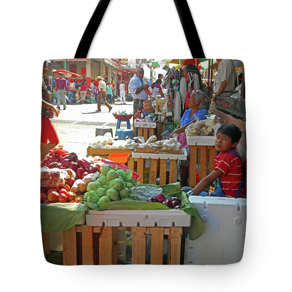 Tapachula Tote Bag featuring the photograph Tapachula 9 by Ron Kandt