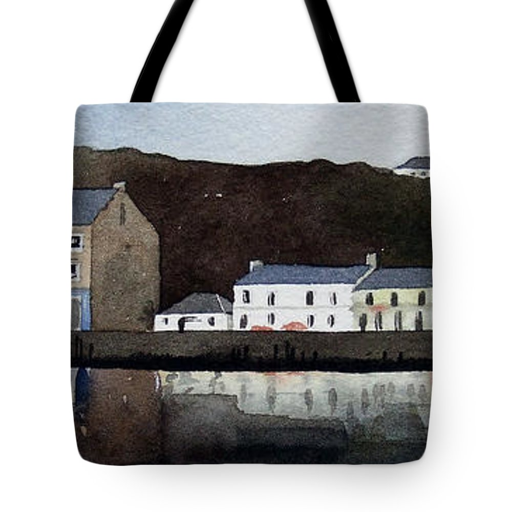 Landscape Tote Bag featuring the painting Tarbert by Paul Dene Marlor