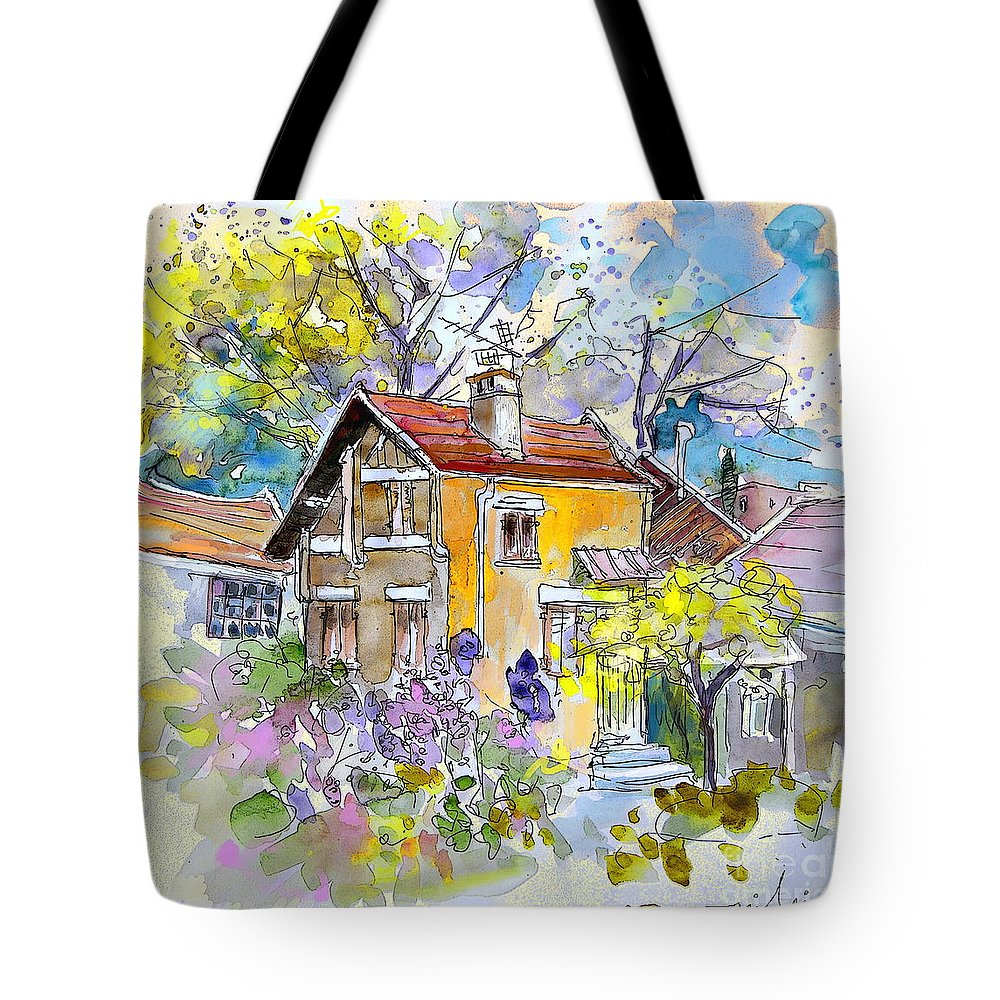 Tarbes Tote Bag featuring the painting Tarbes 03 by Miki De Goodaboom