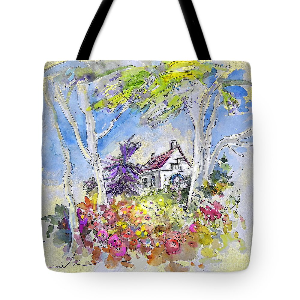 Tarbes Tote Bag featuring the painting Tarbes 05 by Miki De Goodaboom
