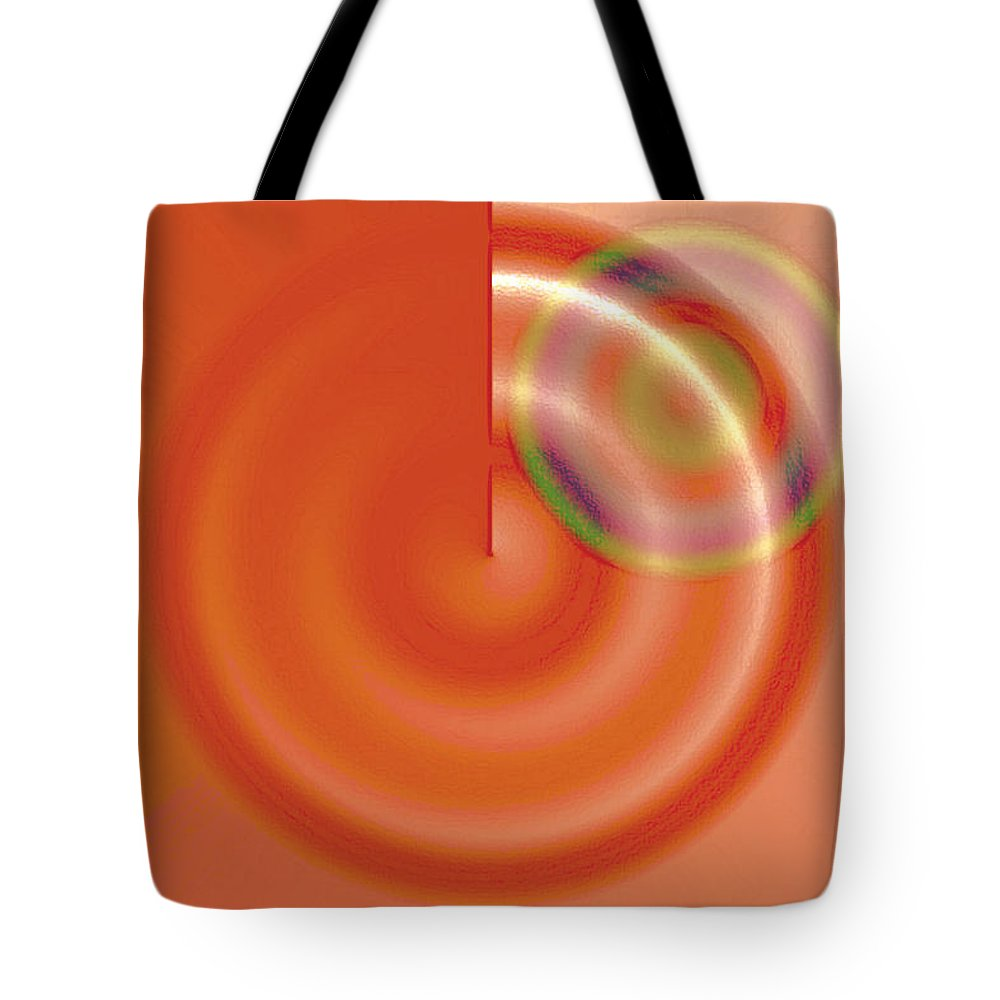 Abstract Tote Bag featuring the digital art Targe Citron by Susan Baker